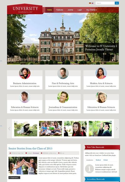 It University 2 Responsive Educational Insutions Joomla Template