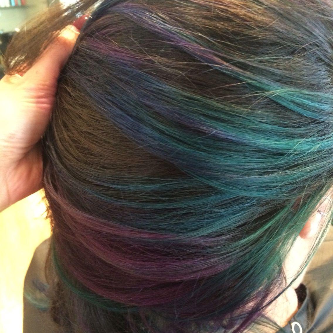 Creative Color Oil Slick Hair My Hair Creations Pinterest
