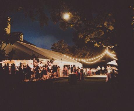 Southern weddings - string light wedding