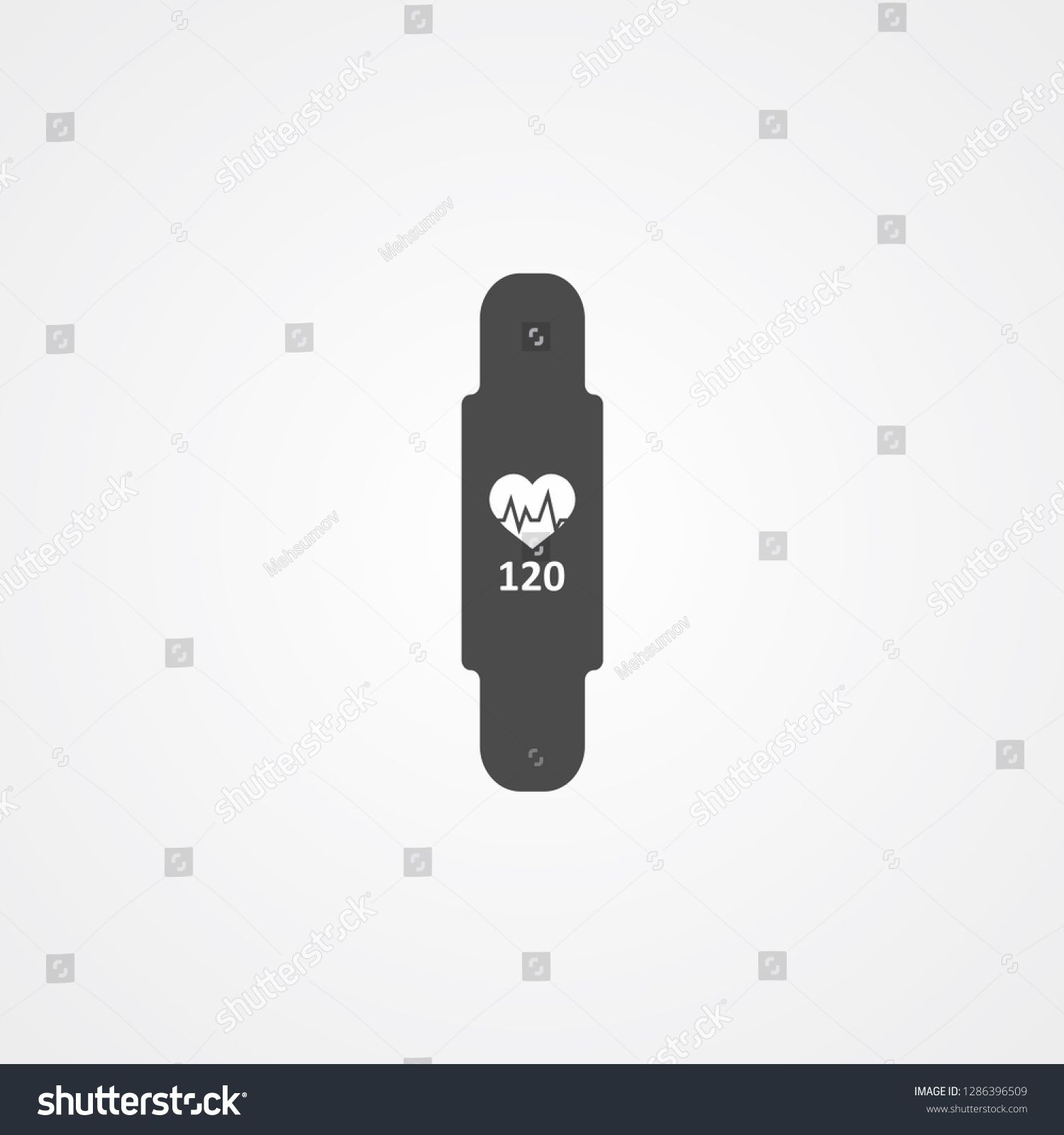 Fitness band vector icon sign symbol #Sponsored , #sponsored, #vector#band#Fitness#symbol