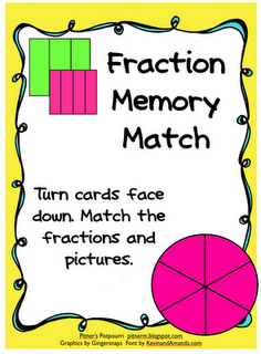 Fraction Memory Match -- Freebie!  make fractions fun and understandable