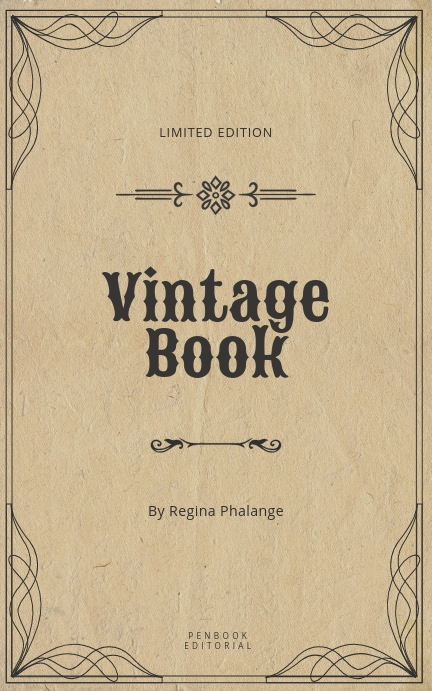 Vintage Book Cover Template Postermywall Book Cover Template Book Cover Design Template Kindle Book Cover
