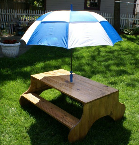 Child S Picnic Table Nothing To Bump Knees On Underneath Kids