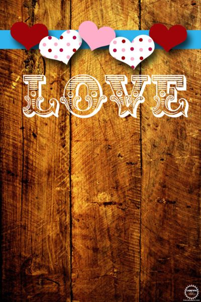Cute Free Valentines Day IPhone Wallpaper Heart WallpaperIphone RusticValentines
