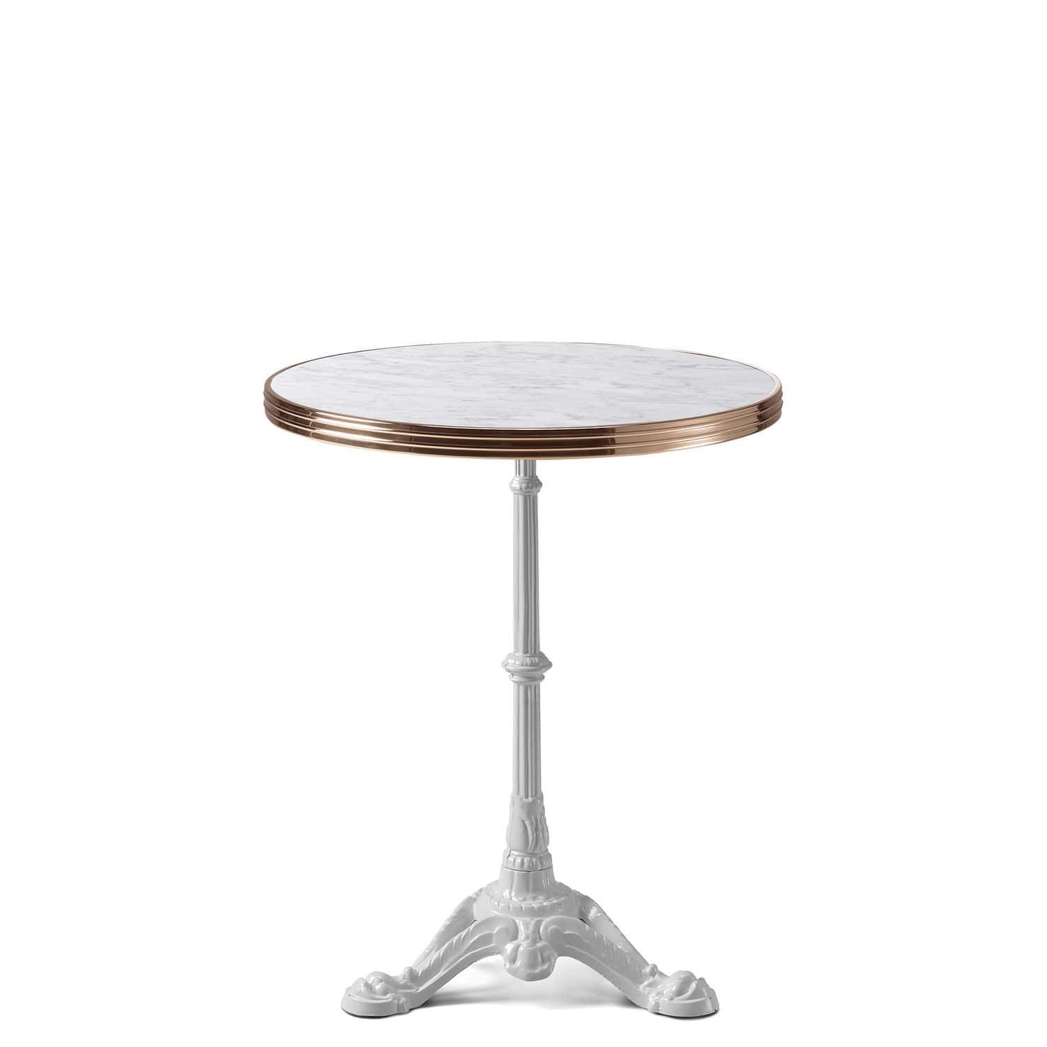 table bistrot marbre ronde pied fonte good mignon table bistrot haute img s lyon style pin. Black Bedroom Furniture Sets. Home Design Ideas