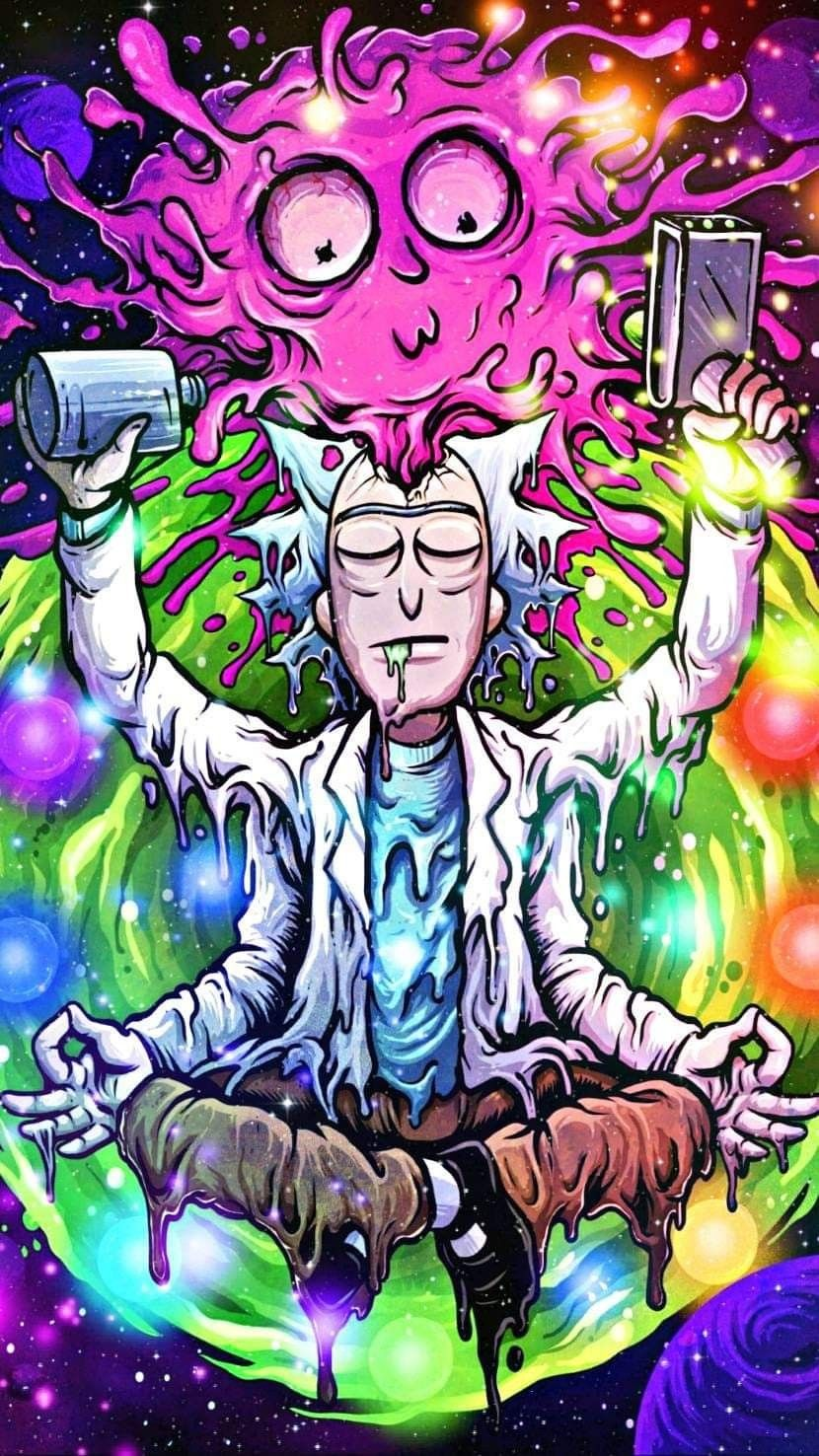 Pin By Kingsley Parry On Maestro Rick And Morty Poster Simpsons Art Trippy Wallpaper
