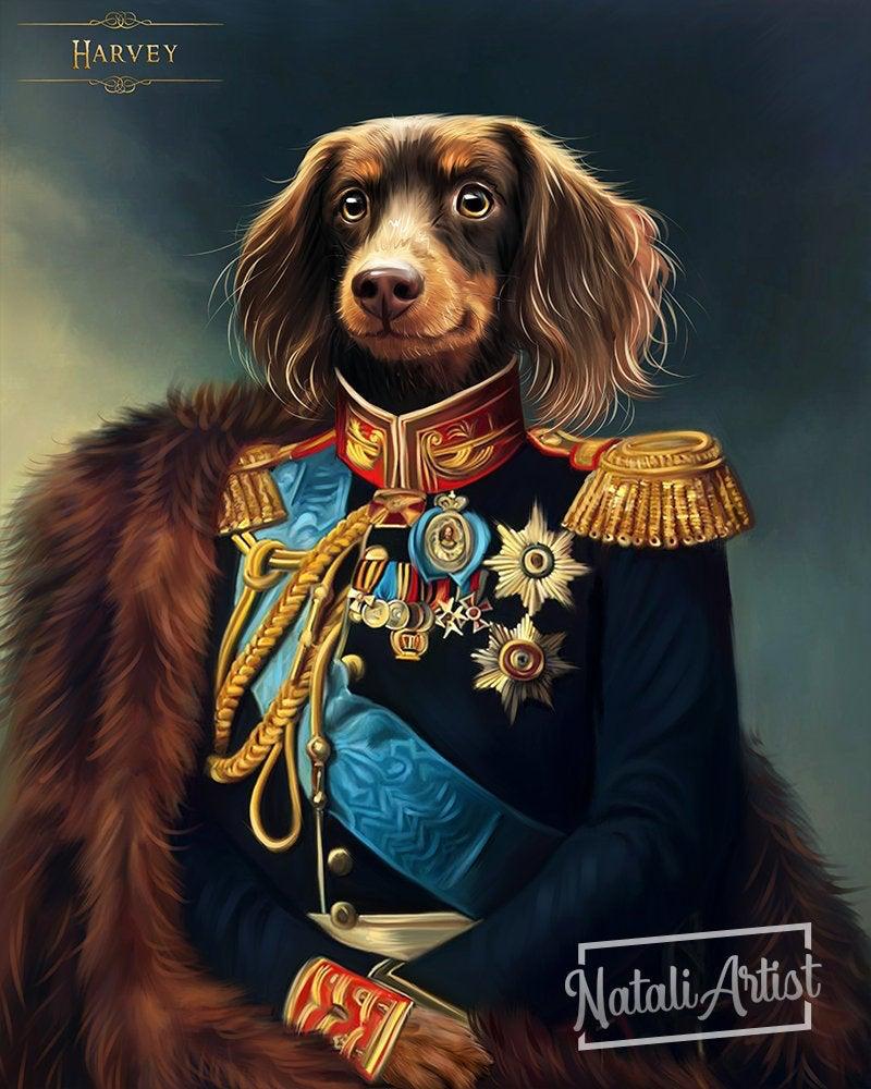 Ritratto Di Animali Domestici Personalizzati Royal Pet Etsy Custom Cat Portrait Custom Pet Portraits Pet Portraits