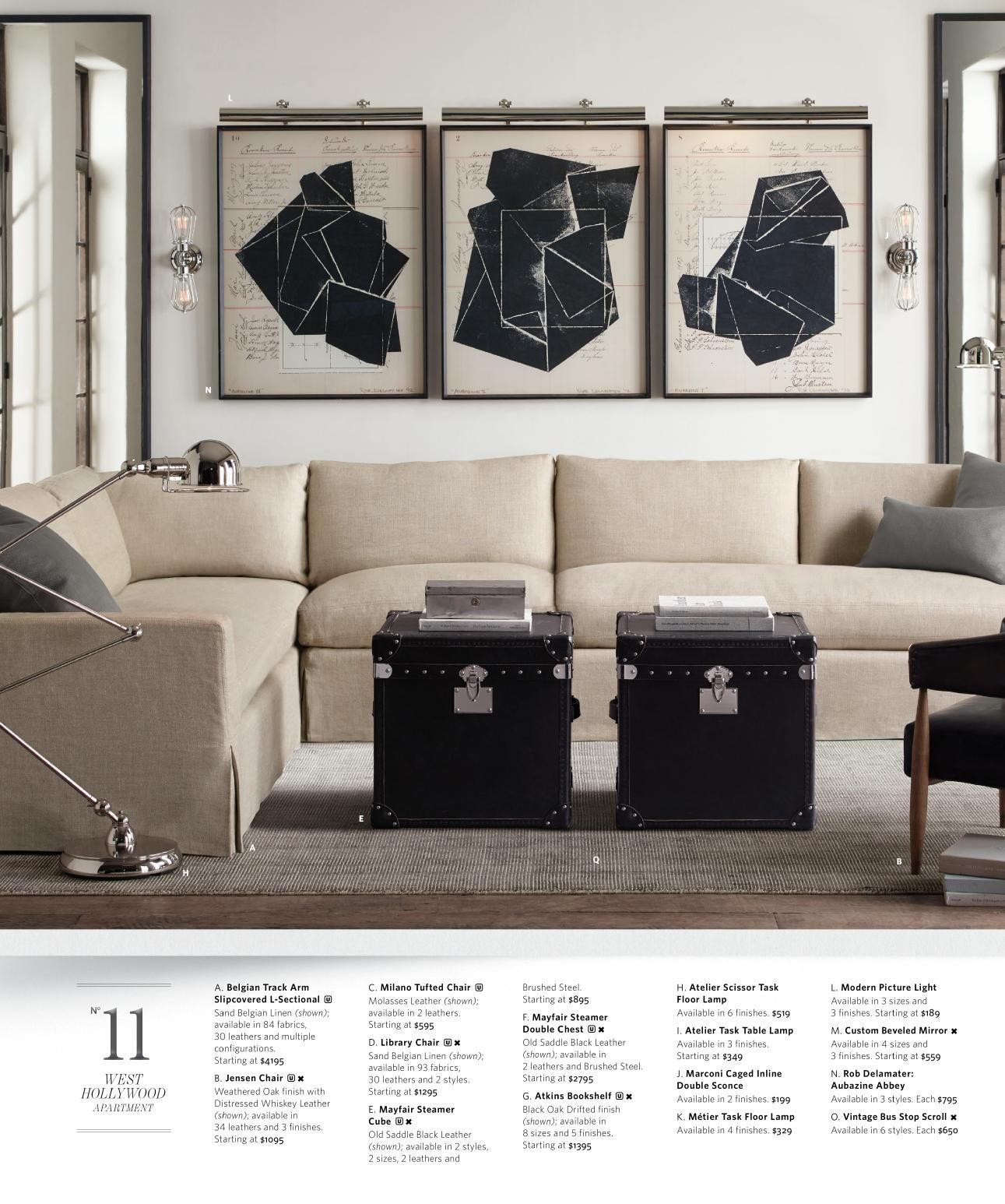 Restoration Hardware Small Spaces furniture line Small