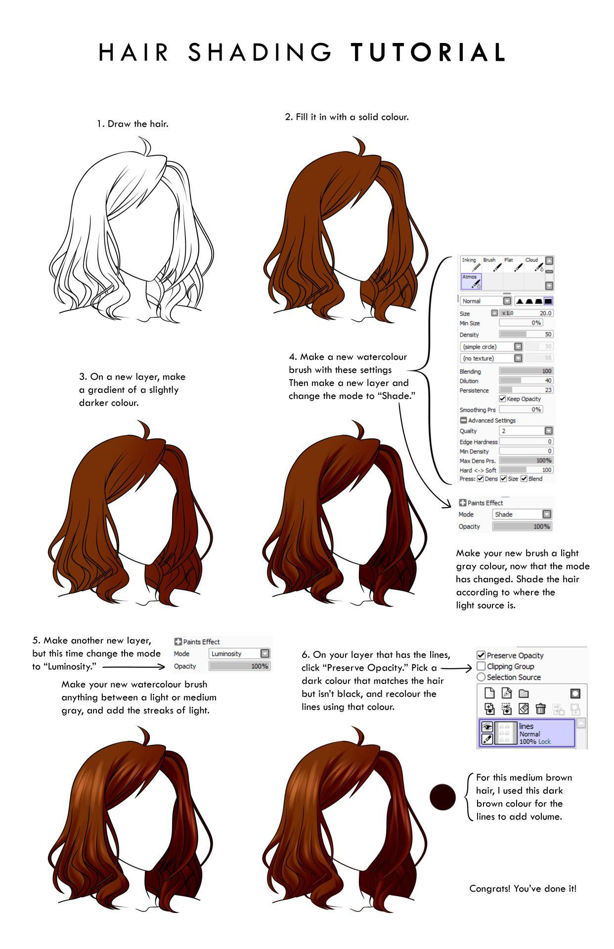 Hair Shading Tutorial Digital Painting Tutorials Digital Art Tutorial How To Draw Hair