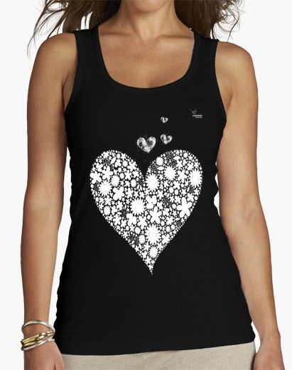 Camiseta Corazones F Camiseta mujer sin mangas  18,90 € - ¡Envío gratis a partir de 3 artículos!