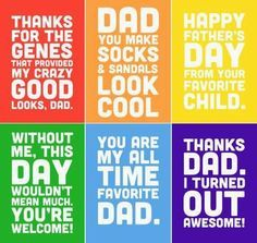 Funny Father\'s Day Quotes | Father\'s day diy, Funny fathers ...