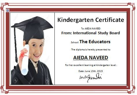 kindergarten diploma certificate template end of year pinterest