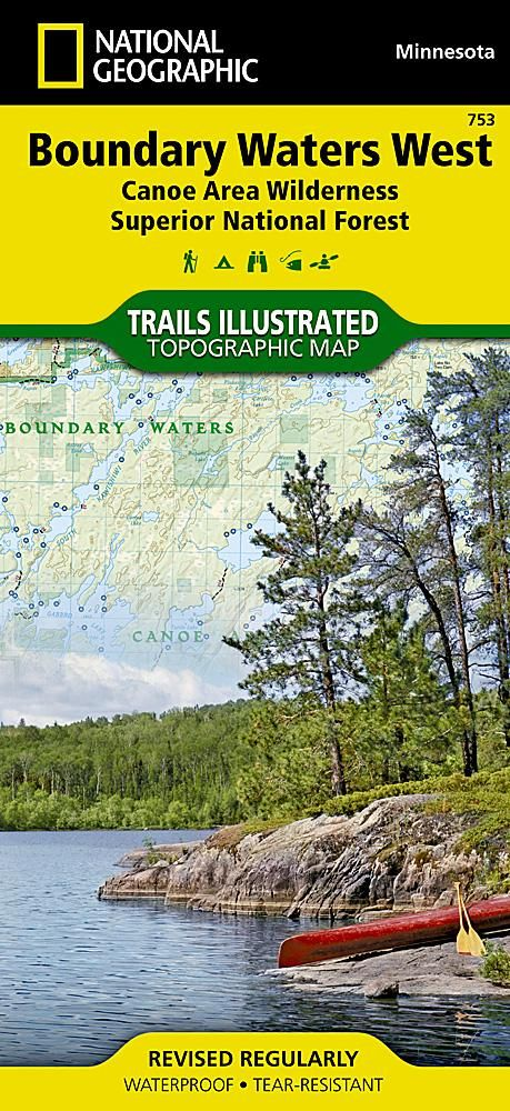 Boundary Waters Canoe Area Wilderness West Mn Map 753 By National