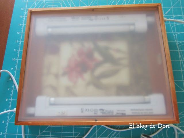 El blog de Dori: Por fin ya tengo mi caja de luz casera   TUTORIAL