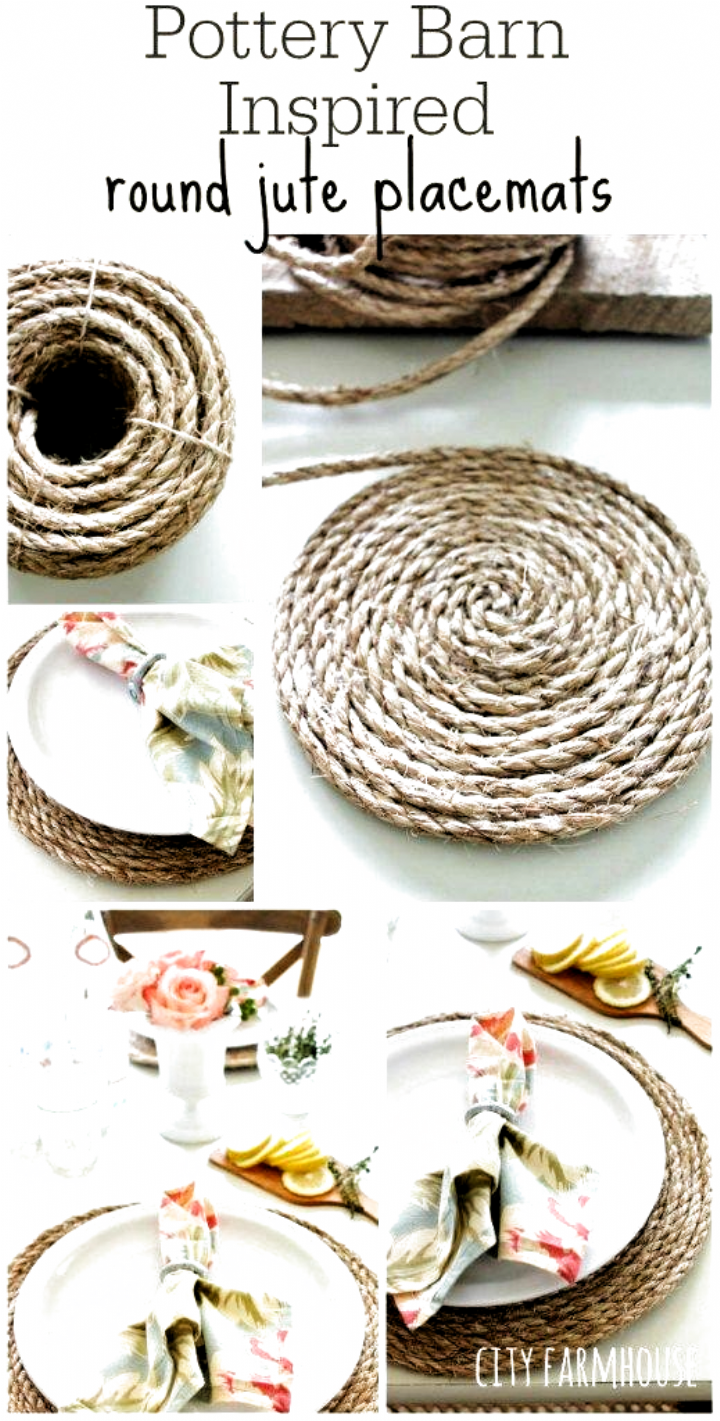 Super Easy And Cheap Diy Farmhouse Decor Ideas For Your Home Pottery Barn Inspired Round In 2020 Diy Farmhouse Decor Pottery Barn Inspired Farmhouse Style Decorating