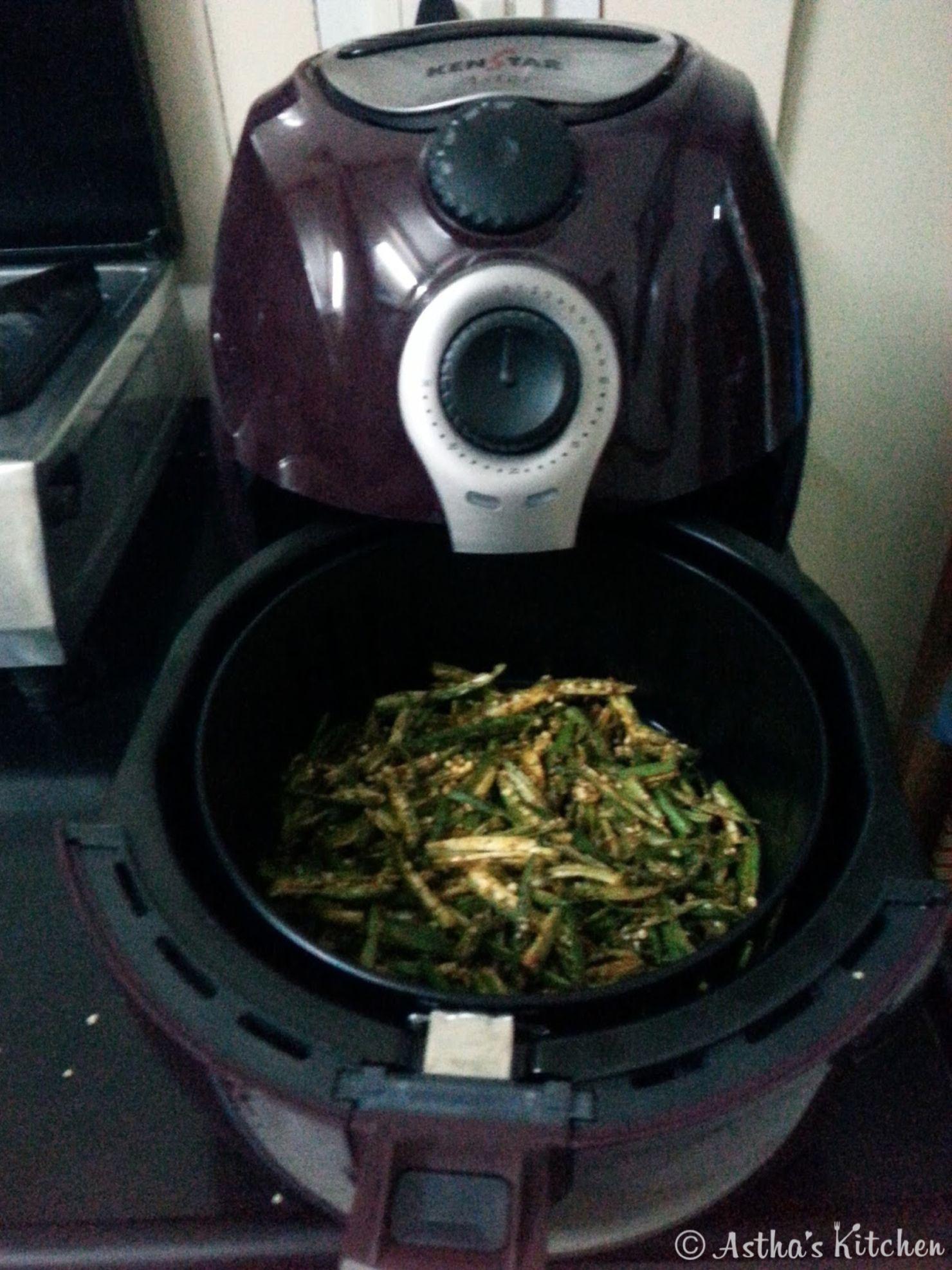 Kurkuri Bhindi (Okra) in Air Fryer Air fryer recipes