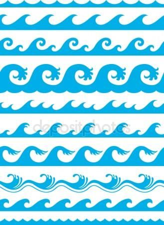 Descargar Conjunto De Onda Transparente Oceano Ilustracion De Stock 15607761 Olas De Mar Imagenes De Moana Imagenes De Moana Bebe
