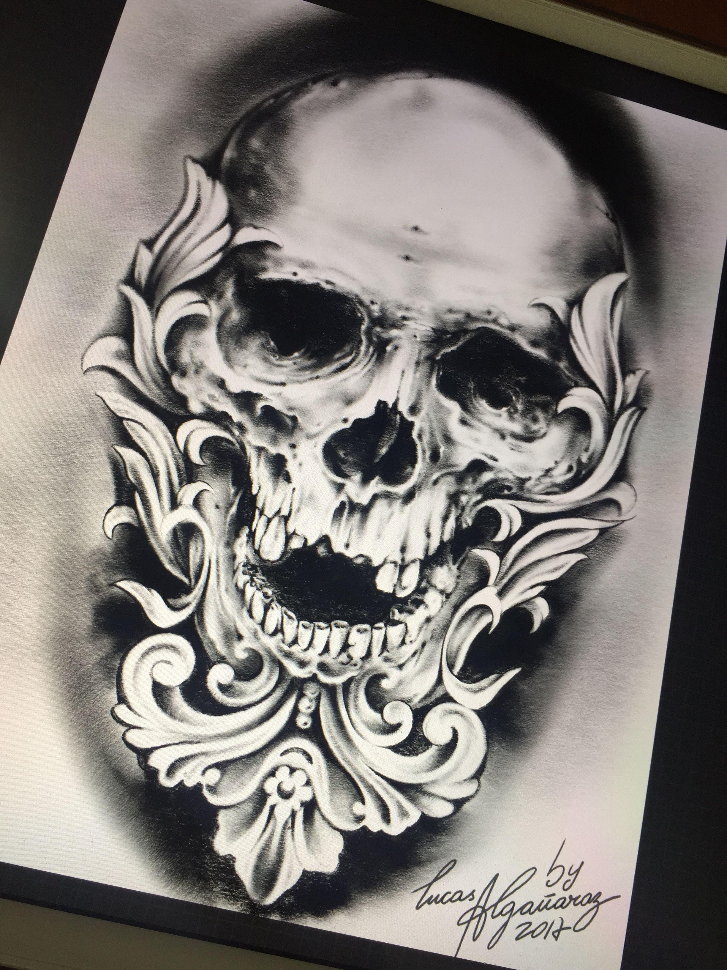 Skull Desing By Lucas Algañaraz Skulls Pinterest Tatuaż