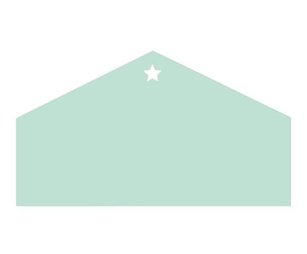 Cabecero de cama Lovely star, verde menta - 90x50 cm