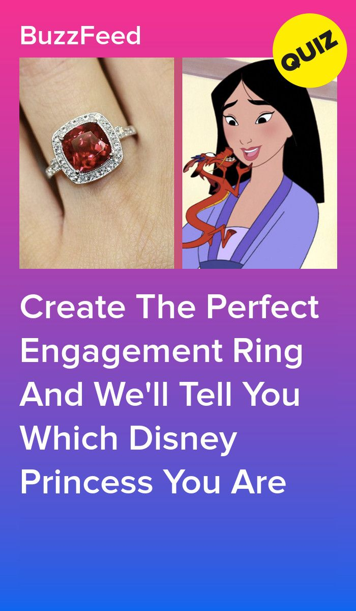 Buzzfeed 7 Rings: Create An Engagement Ring And We'll Tell You Which Disney