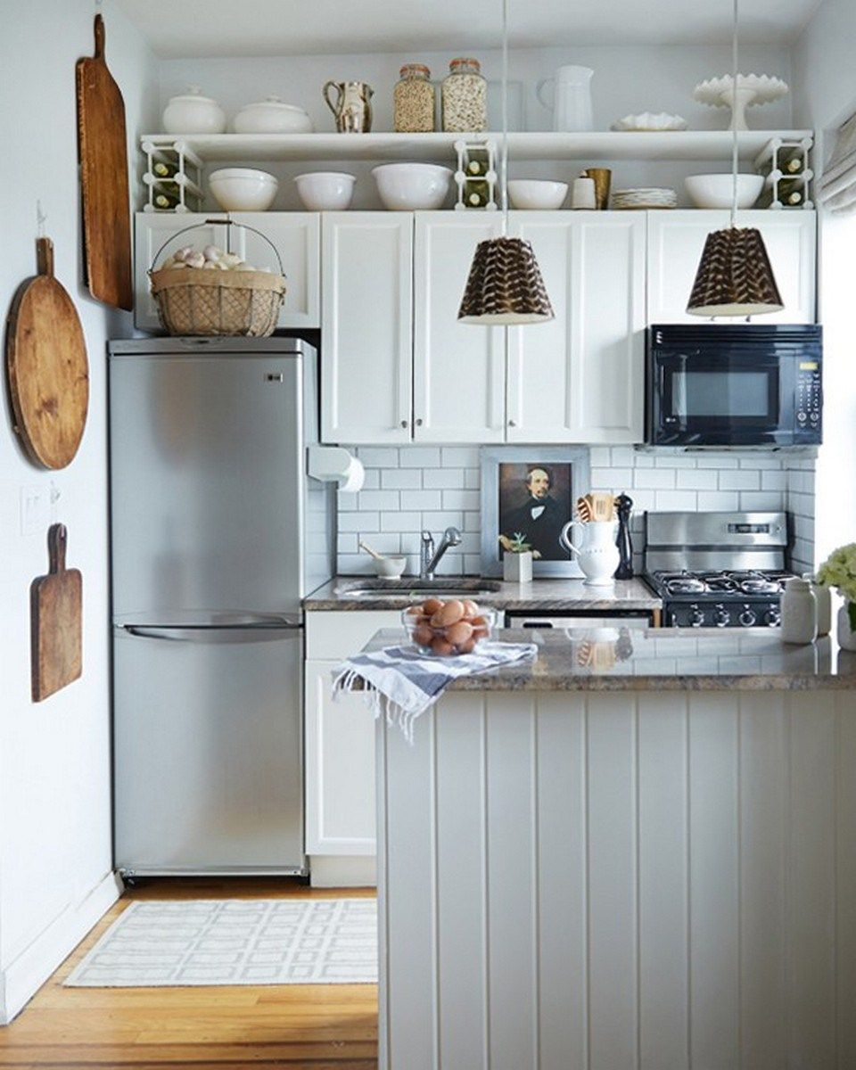Best 99 Small Kitchen Remodel And Amazing Storage Hacks On A 640 x 480