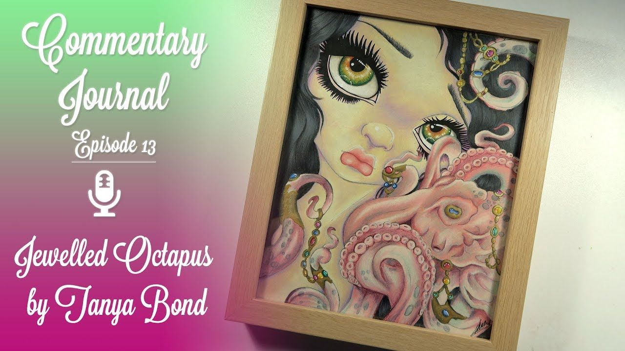 Commentary Journal EP 13 Jasmine Becket Griffith Mermaid Coloring Book