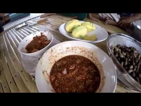 ซ มก นก นส มมะม วง น ำจ มปลาแดก ปลาร าเด อค ะ อาหาร การทำอาหาร