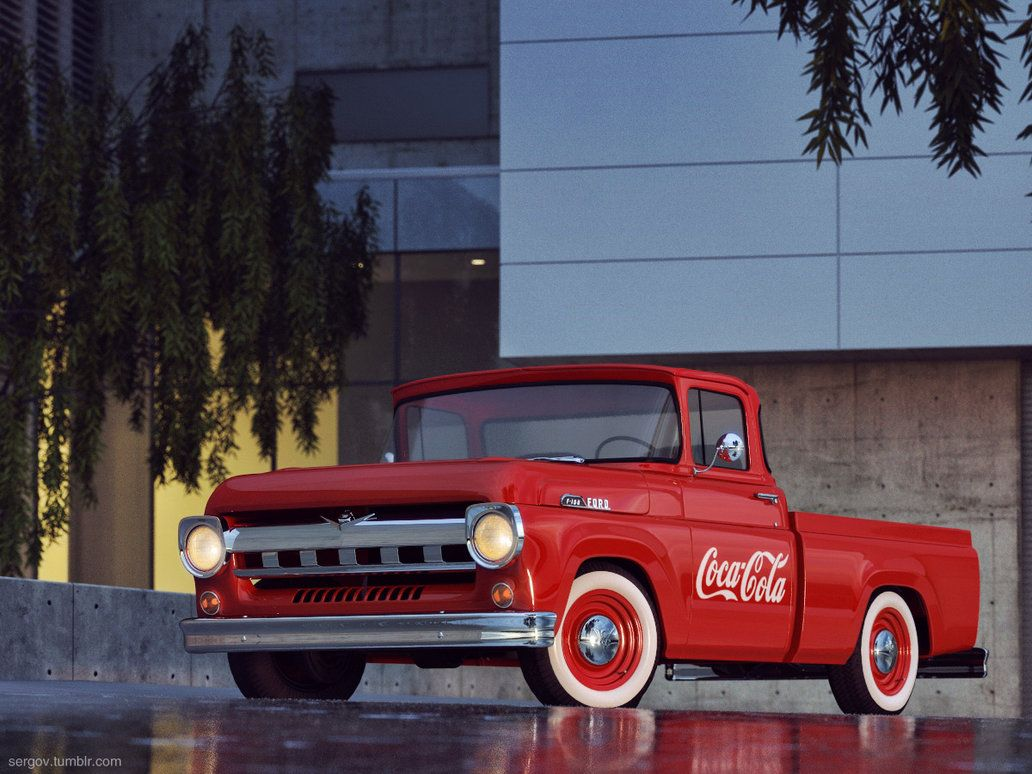 Ford F100 Cola Pickup Truck By Sergoc58 On Deviantart Pickup Trucks Cola Ford Trucks