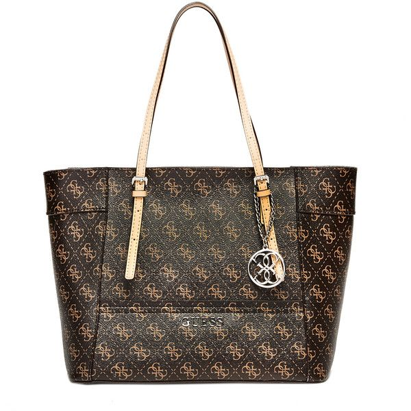 GUESS Delaney Logo Small Classic Tote (4.390 RUB) ❤ liked on Polyvore featuring bags, handbags, tote bags, handbags totes, tote purses, white tote bag, white purse and guess tote