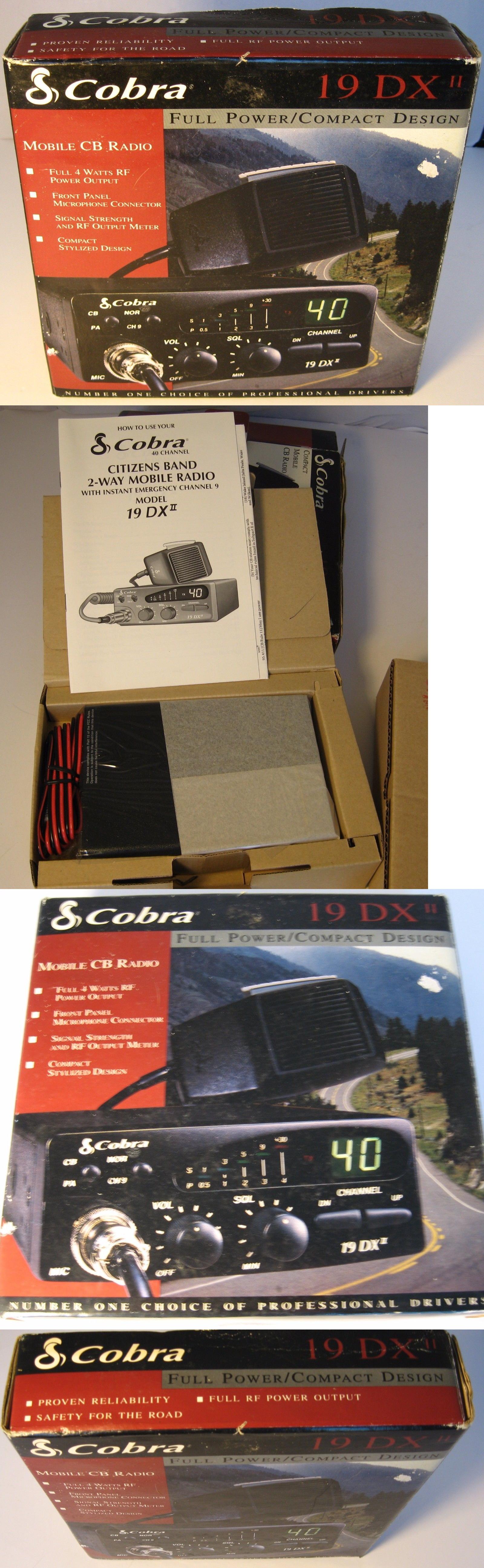 Cb radios cobra 19 dx ii cb radio with mic in box never used cb radios cobra 19 dx ii cb radio with mic in box never used sciox Gallery