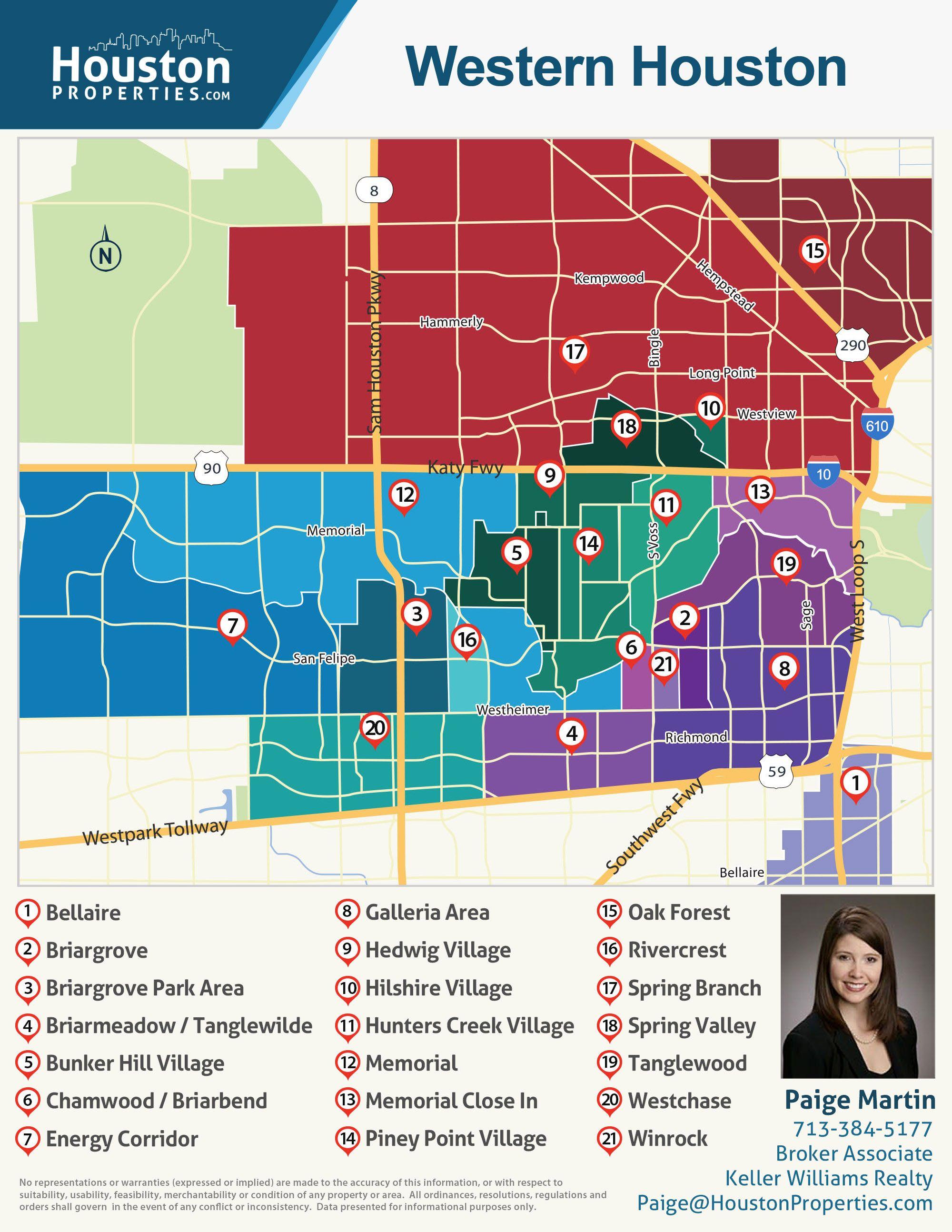 West Houston Zip Code Map