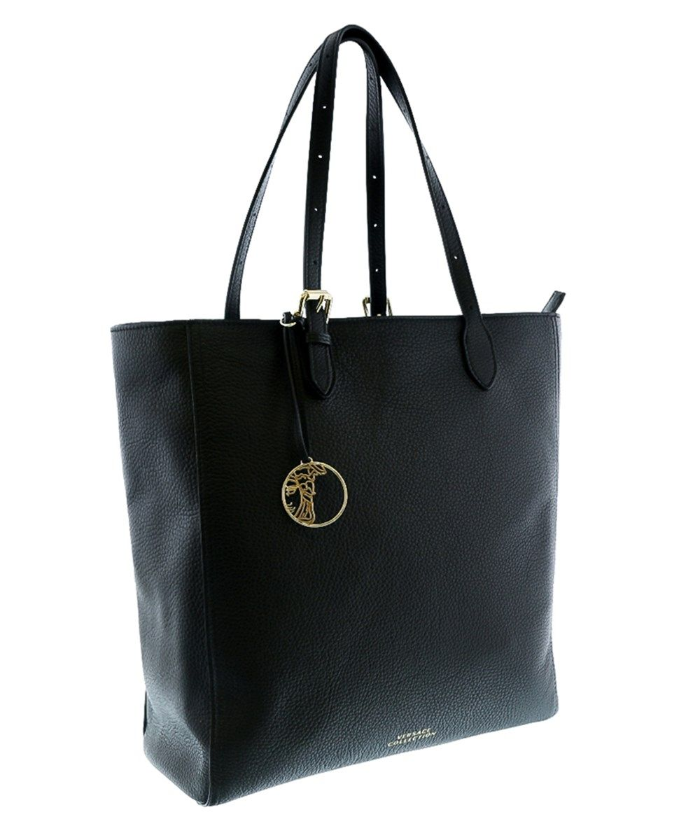 8b4f691494f4 VERSACE Collection Lbf0462 L410C Black Leather Tote Shopper .  versace  bags   leather  hand bags  tote
