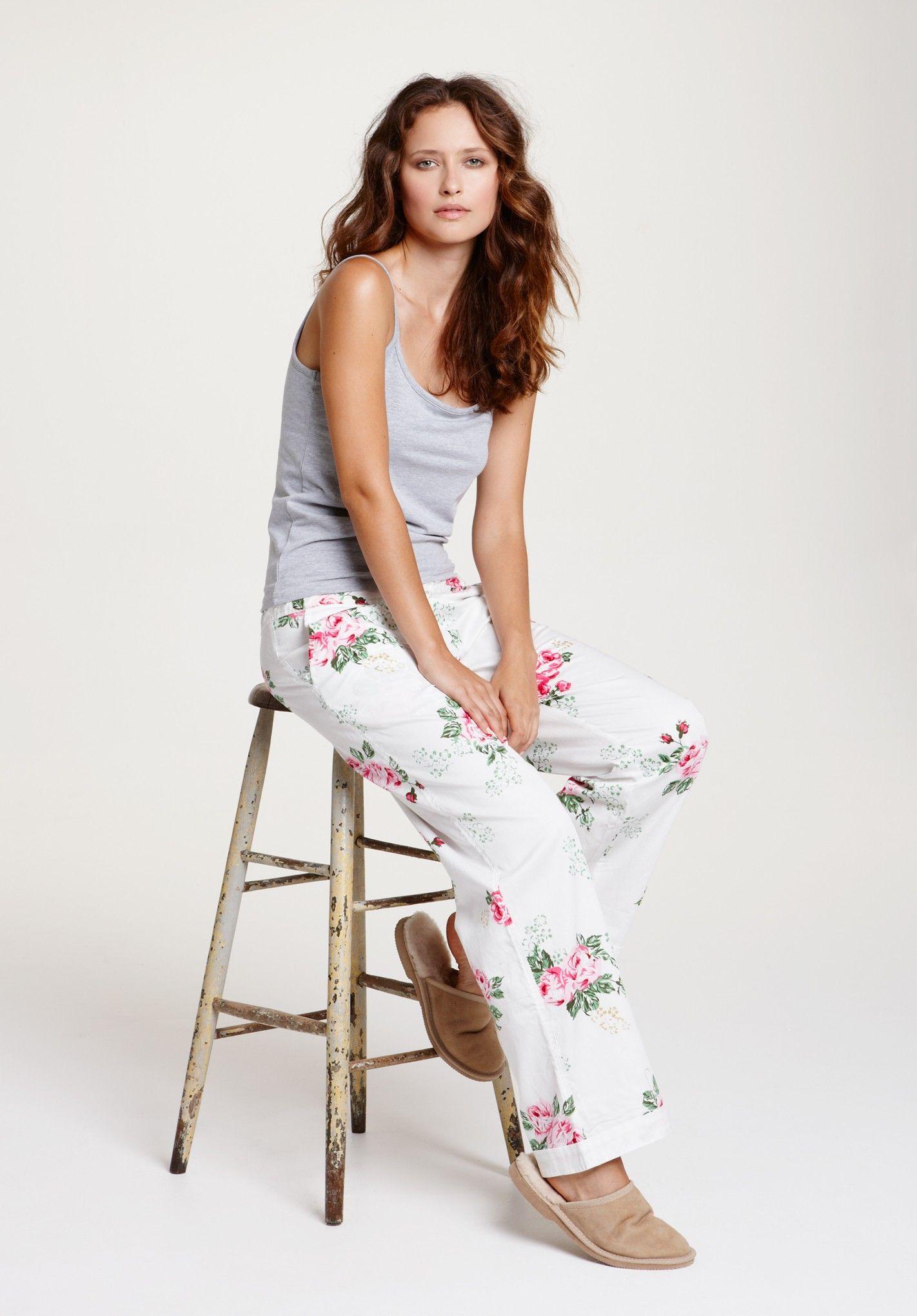 5971cd3da471 Vintage Rose Pyjama Trousers