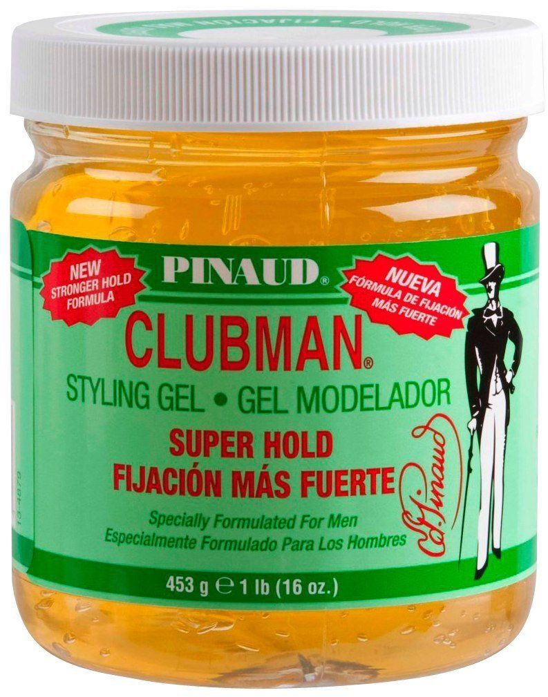 Clubman Styling Gel Super Hold Yellow 16 oz. (Pack of 2
