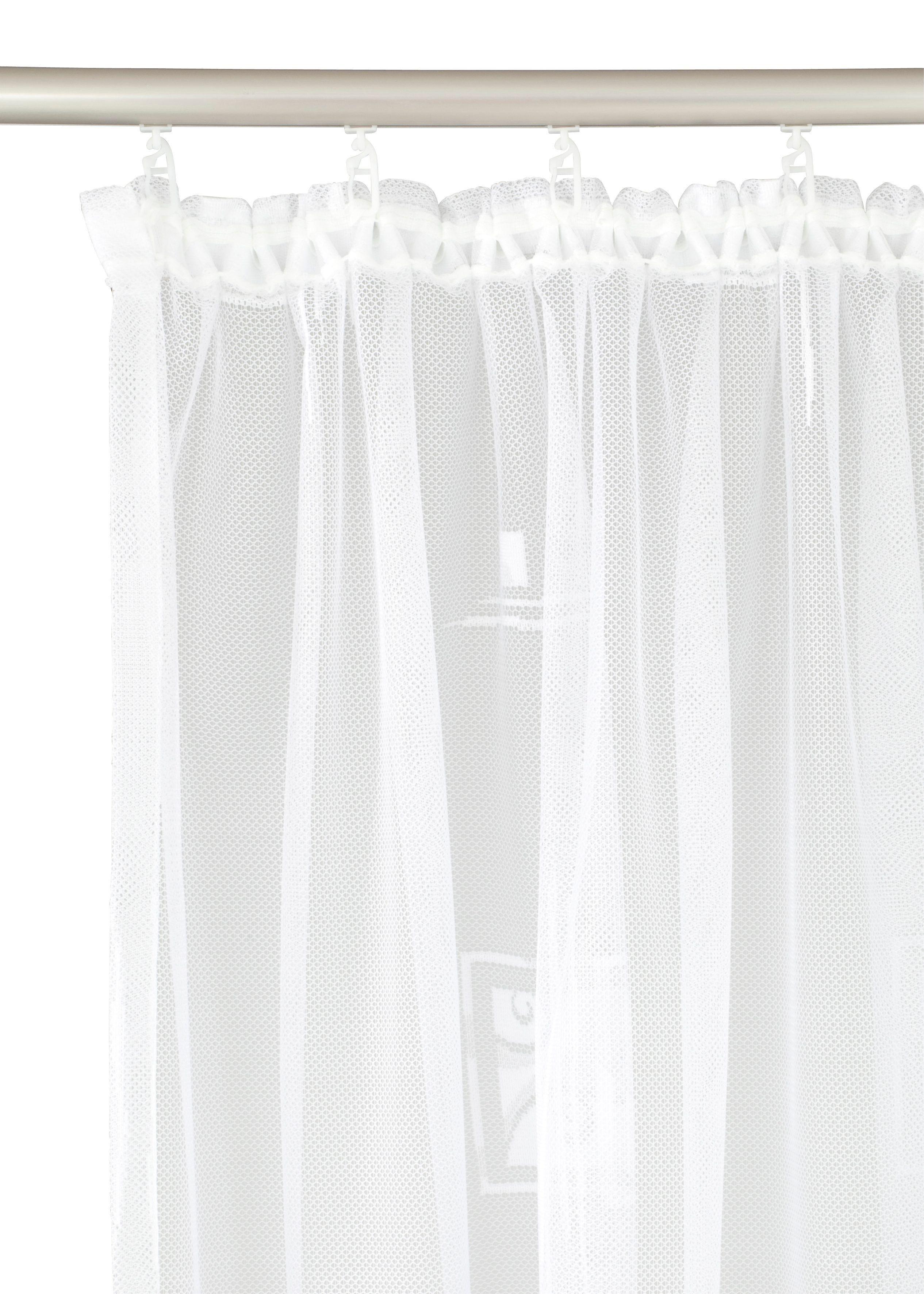 Gardine, H: 95 cm, weiß, Material Stoff / Jacquard »Alexa«, Weckbrodt, gemustert