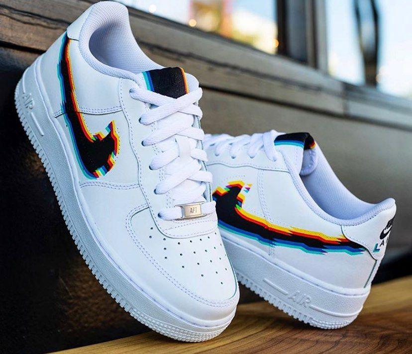 AF1 GLITCH Design by @justwincustoms #nikeairmax | Nike