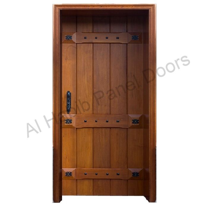 Diyar solid wood door hpd420 solid wood doors al habib for Plain main door designs