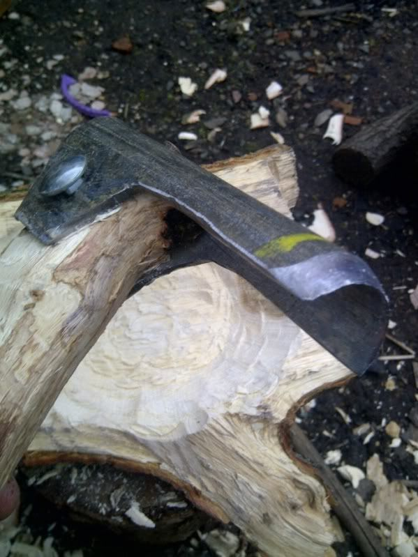 Home Made Adze For Bowl Carving Bush Craft Smithing