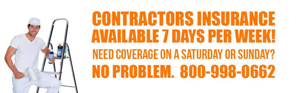 Attention Contractors We Insure All Types Of Contracting Work