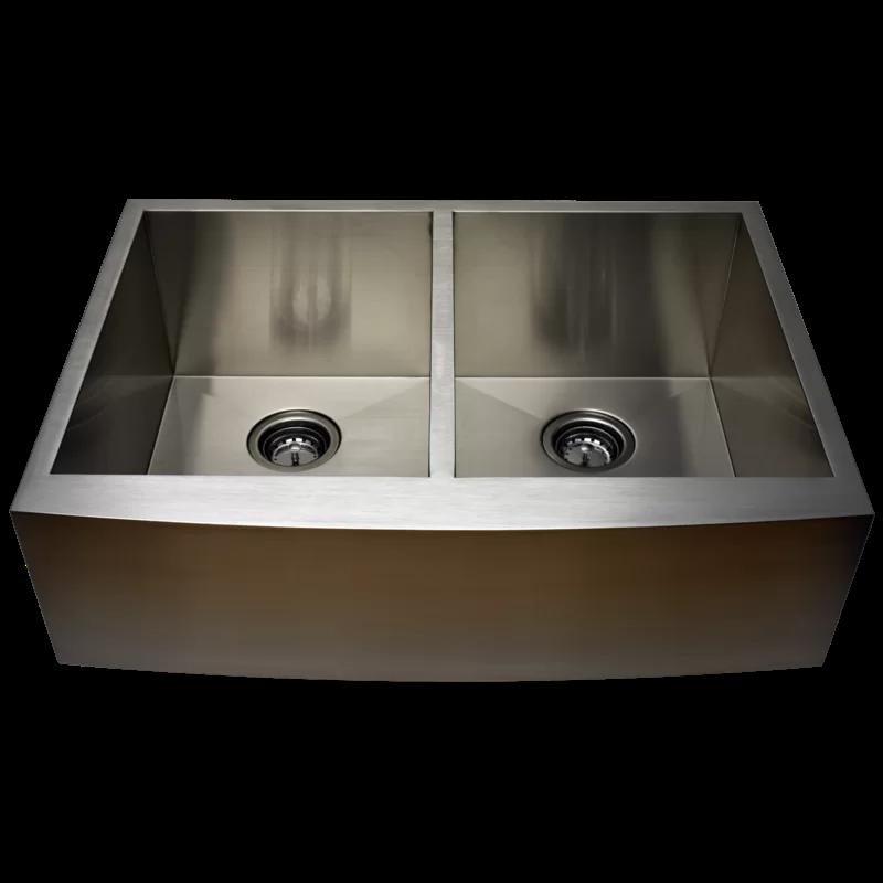 33 L X 22 W Undermount Kitchen Sink Apron Sink Kitchen Sink Alpha International