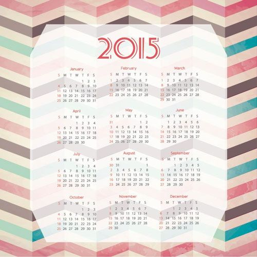 15 Free 2015 Vector Calendar Design Templates Vector Freebies - photo calendar