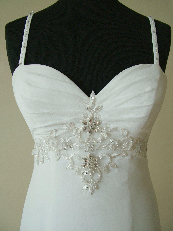 Custom Made Greek Style Chiffon Wedding Dress with Perfectly Beaded ...