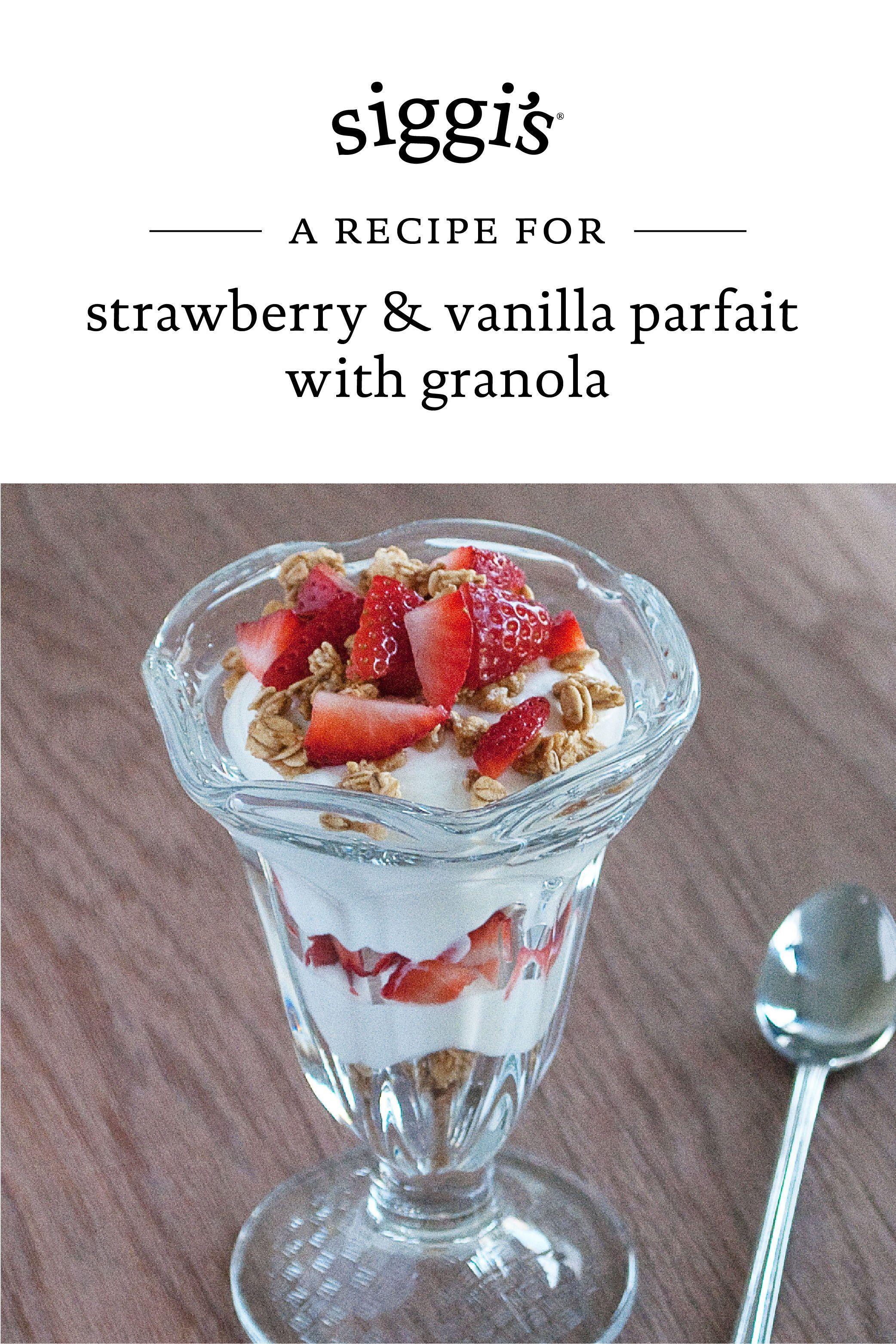 Strawberry Vanilla Parfait With Granola Strawberry Vanilla Parfait Granola Strawberry Nutrition Facts
