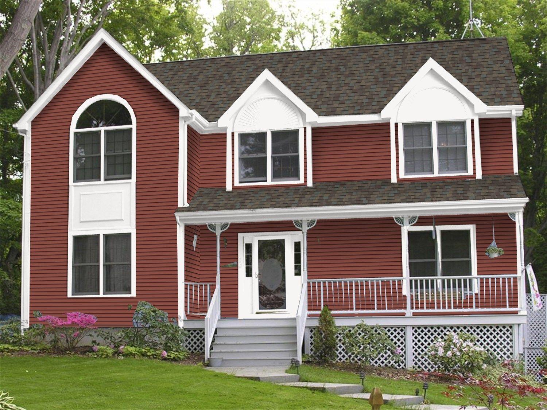 Certainteed Autum Red House Siding Grey Siding House Certainteed Siding