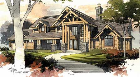 Timber Frame House Plan of MossCreek Designs Elevation | Dream Home ...