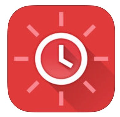 Red Clock For Iphone Is A Fine If Simple Alarm Clock Weather App Apple World Today Red Clock Big Digital Clock Home Security Devices
