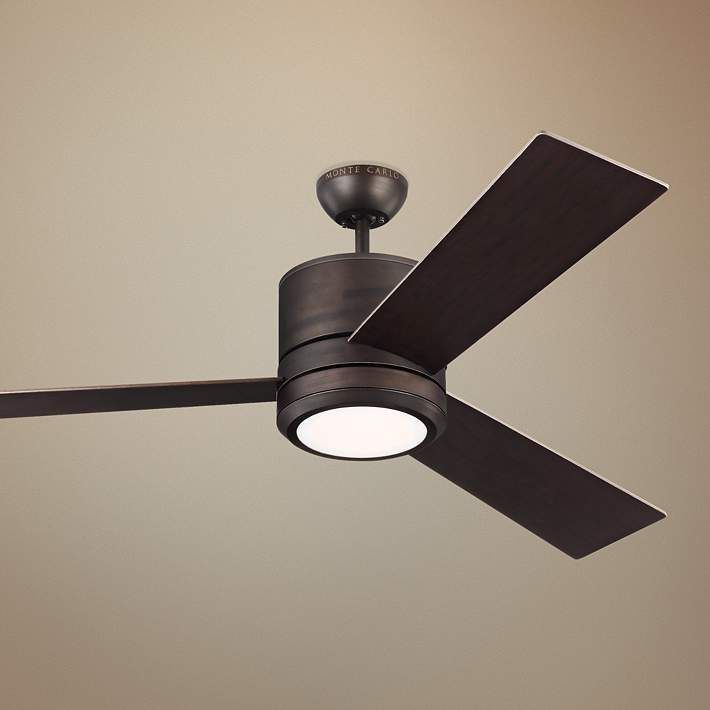 56 Vision Max Roman Bronze Led Damp Rated Ceiling Fan 13t67