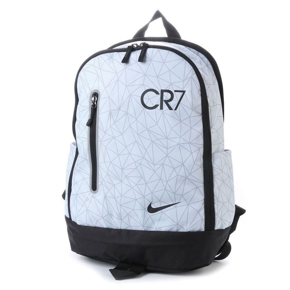 2d0bec1adbc1 NIKE CR7 Soccer Backpack School Bag BA5502 043 Pure Platinum Black New  Nike   Backpack