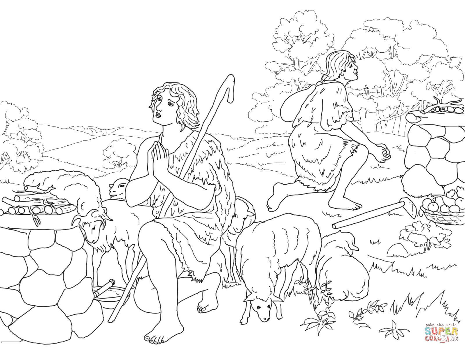 Cain And Abel Coloring Pages Lovely Adam Eve