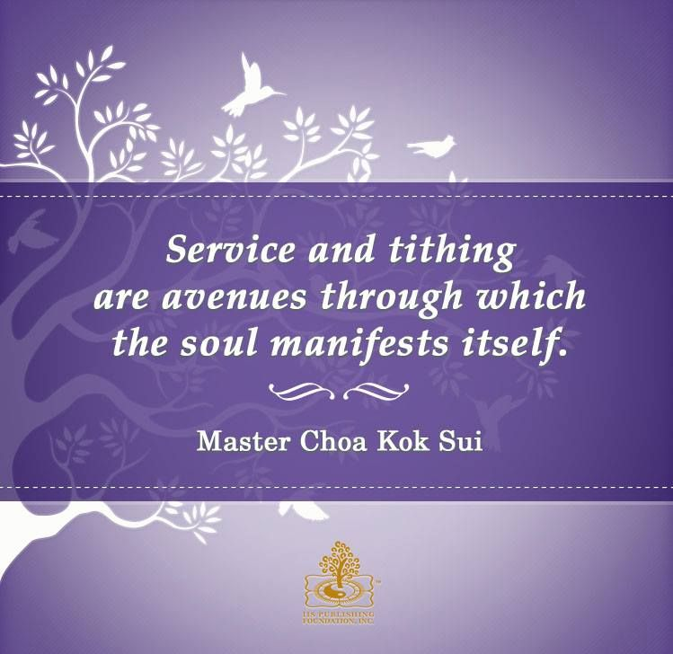 Service And Tithing Are The Avenues Through Which The Soul Manifests